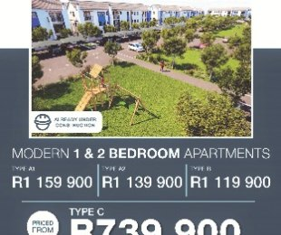 R 739,900 -  Apartment For Sale in Buh-Rein Estate