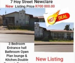R 650,000 - 3 Bed House For Sale in Newclare