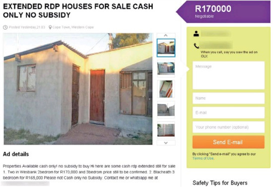 advertisement for house sale