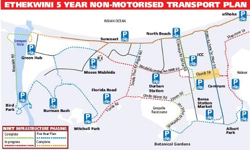 Durban NMT Cycling lanes routes and intermodel points Page 2