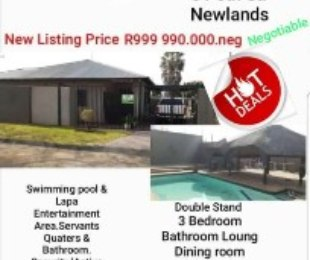 R 999,990 - 3 Bed House For Sale in Newlands